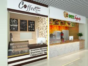 Фастфуд и кофейня в торговом центре