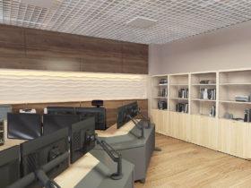 KazTransOil .Диспетчерский зал  в национальном стиле