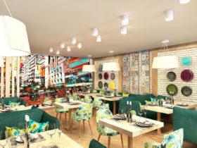 Дизайн кафе «Восточный квартал» и караоке