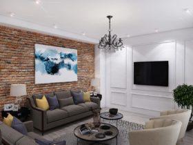 Дом в классическом стиле с элементами лофта