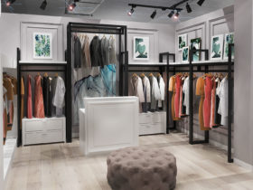 дизайн бутика одежды